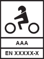 Pictogram of a motorcyclist